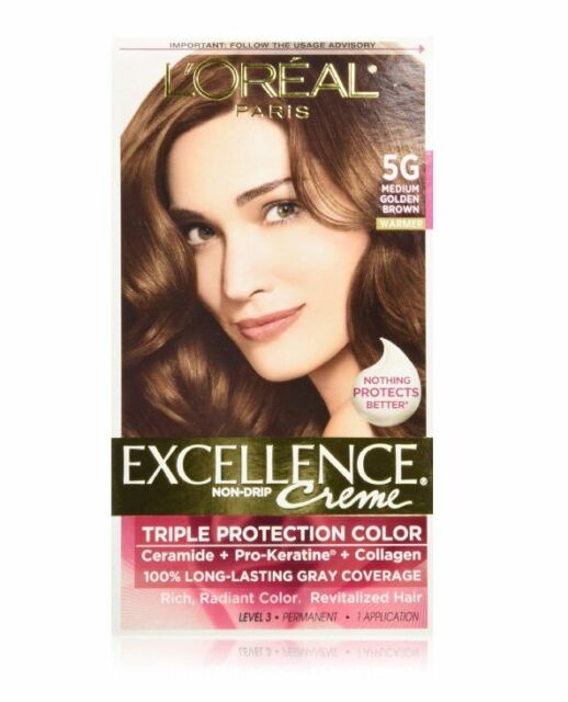 Loreal Excellence Triple Protection Hair Color Creme 5g Medium ...