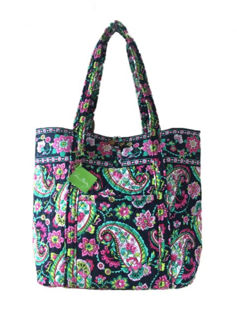 Vera Bradley Quilted Cotton Toggle Closure Large Tote Bag in Petal ... : quilted bags like vera bradley - Adamdwight.com