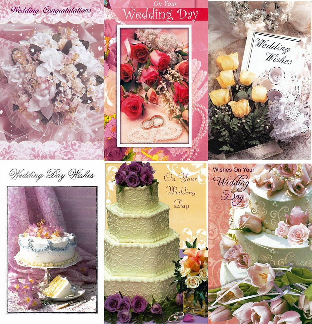 Assorted wedding congratulations greeting cards in a bulk 12 pack ebay picture 1 of 1 kristyandbryce Image collections
