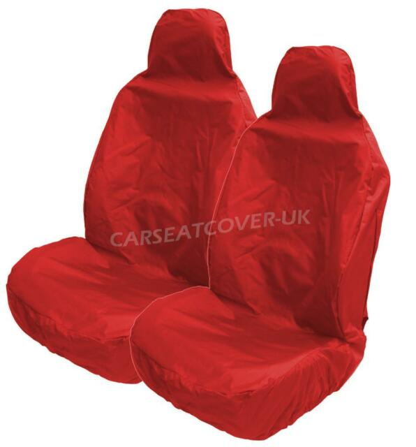 Heavy Duty RED Waterproof Car Seat Covers For VW GOLF MK7 GTD 2 X Fronts