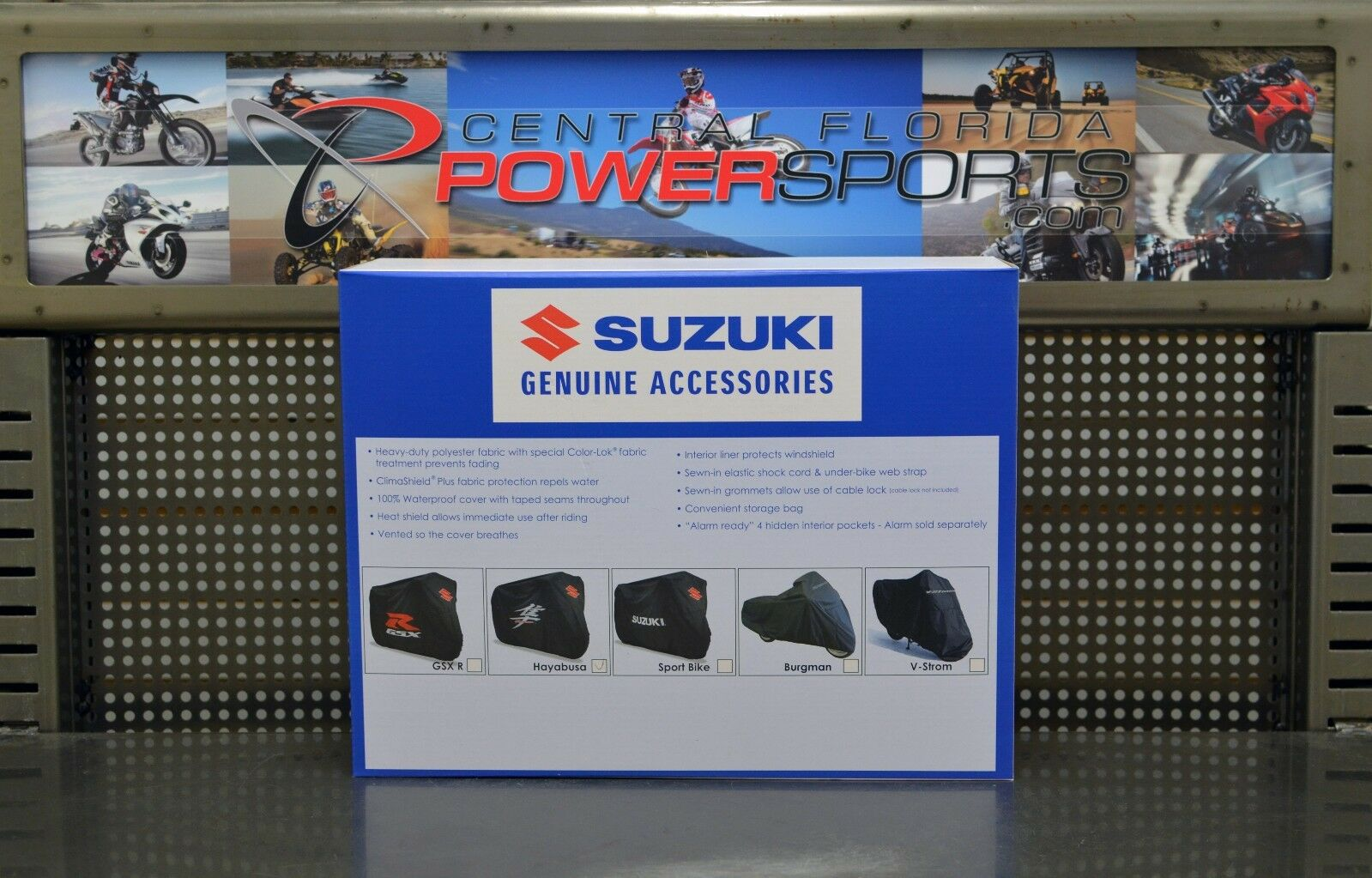 Suzuki Motorcycle Cover Black With Hayabusa Kanji Logo New Ebay