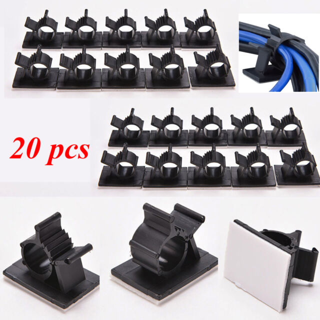 Adhesive Organizer Management Wire Cord Cable Holder Clips Clamp ...