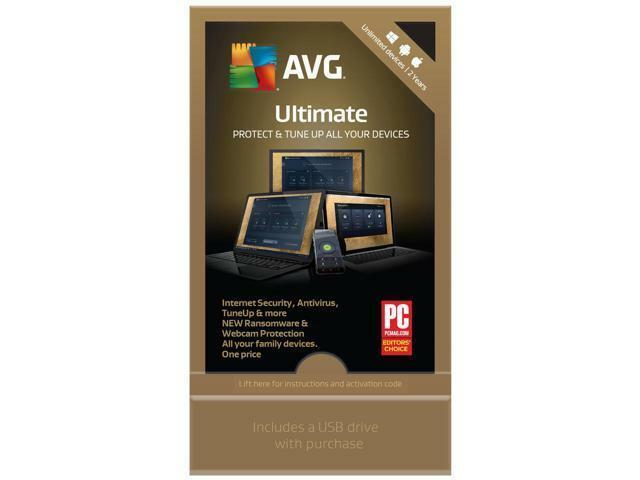AVG Ultimate 2018 Unlimited Devices for 2 Years (USB Flash Drive)