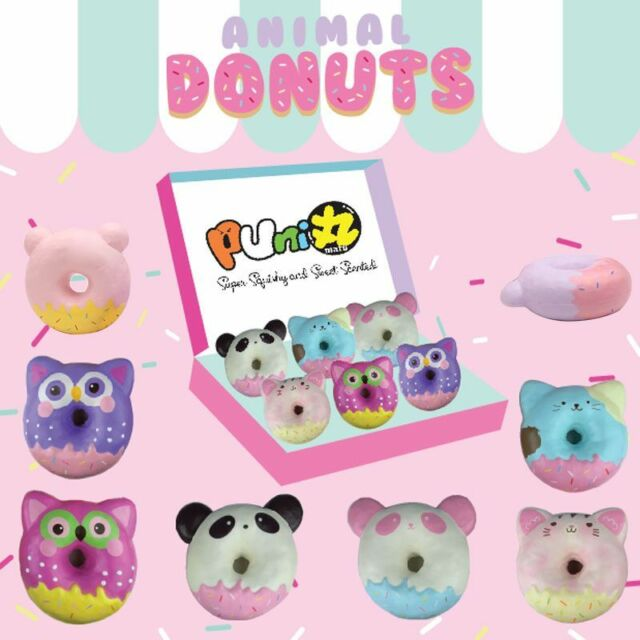 Squishy Donut Unicorn : KAWAII Puni Maru Animal Donut Squishy Jumbo Size Cute Scented Kid Toy Random eBay