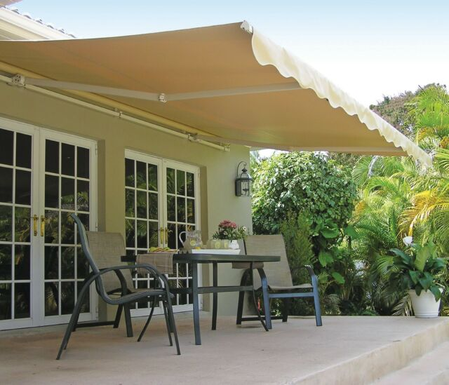 SunSetter Awning Motorized Retractable Outdoor Deck Patio Awnings