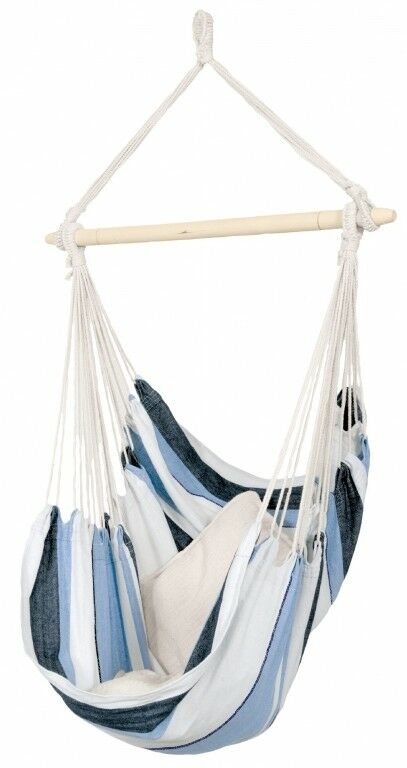 picture 1 of 4     amazonas hammock chair havanna elltex navy blue floating weather      rh   ebay
