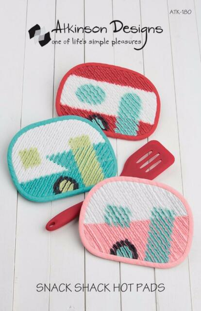 Snack Shack Retro Trailer Hot Pads Camping Atkinson Designs Sewing ...