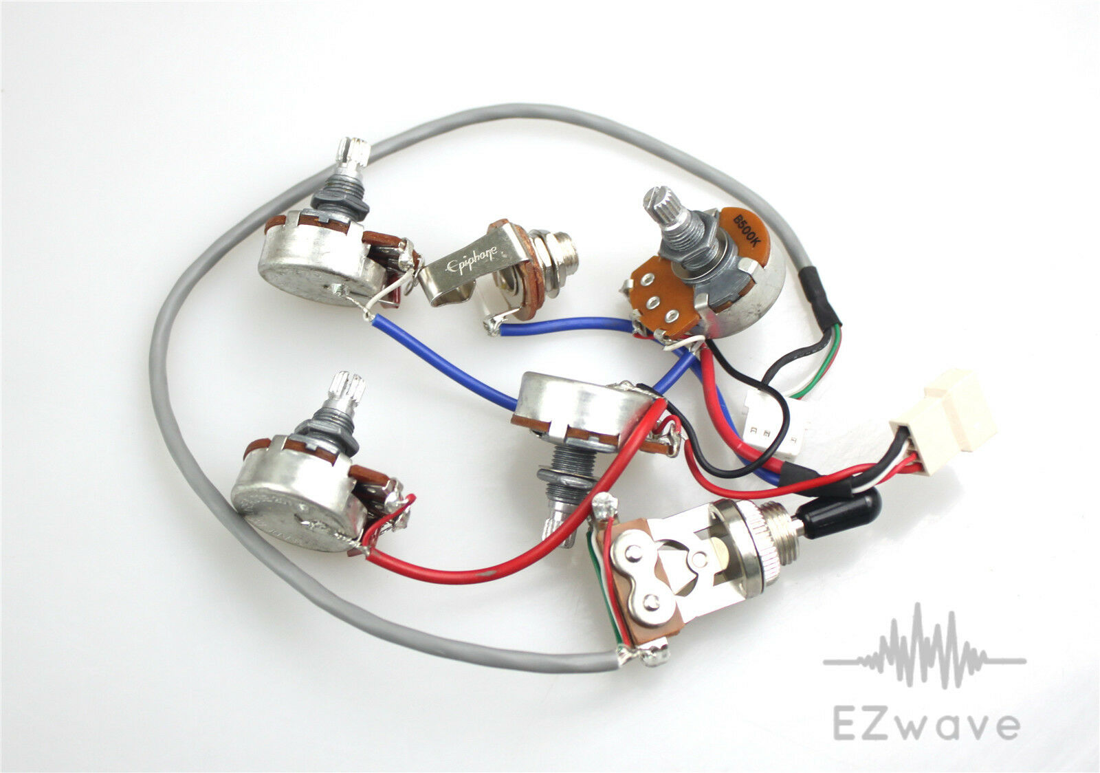 s l1600 genuine epiphone les paul wiring harness with full size 500k epiphone les paul wiring harness at gsmx.co