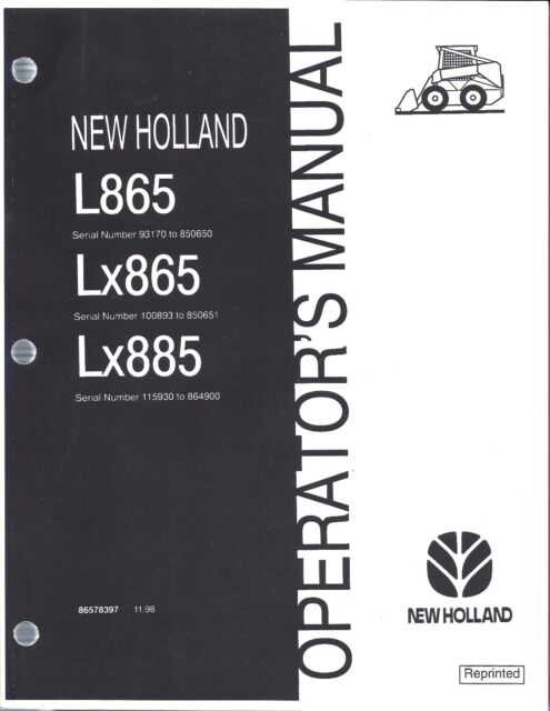 New Holland Lx865 Service manual
