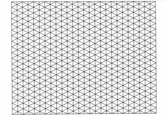 A4 Isometric 5mm Graph Paper 50 Sheets Pad 90gsm Quality ...