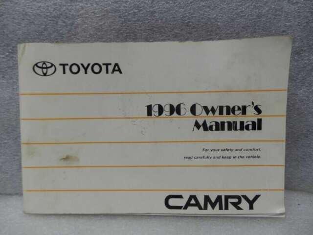 1996 toyota camry owners manual 17052 ebay rh ebay com 1996 toyota camry owners manual free 1996 toyota camry service manual pdf