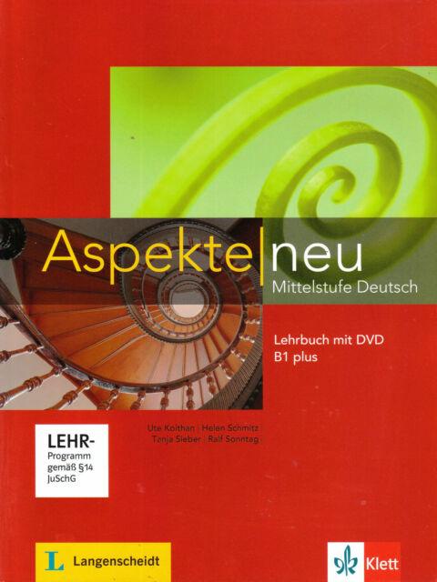 Klett ASPEKTE NEU B1plus (B1+) Lehrbuch mit DVD Mittelstufe Deutsch GERMAN @NEW@