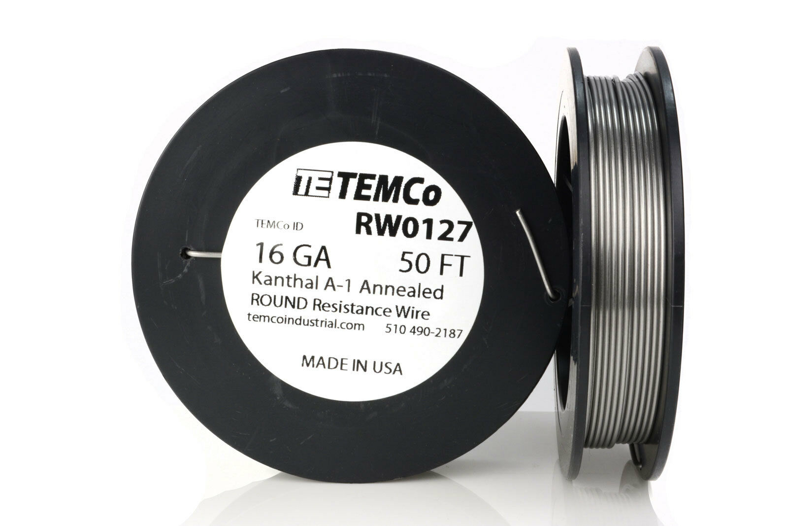 Temco Kanthal A1 Wire 16 Gauge 50 FT Resistance AWG A-1 GA | eBay