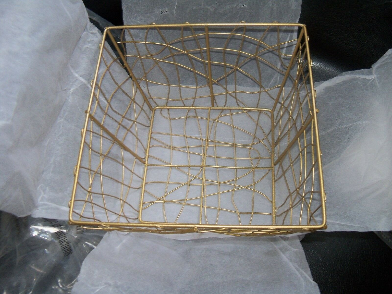 Avon Gold Tone Wire DIY Gift Basket Kit Ribbon Tissue PR Cello Bag ...