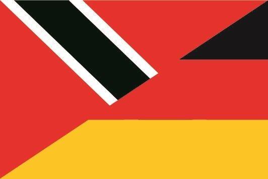 Fahne Flagge Trinidad &Tobago-Deutschland 30 x 45 cm Bootsflagge Premiumqualität