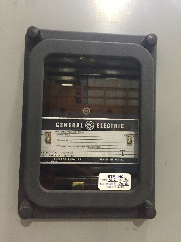 General Electric 12NGV18A2A DC Under Voltage Relay 125v eBay