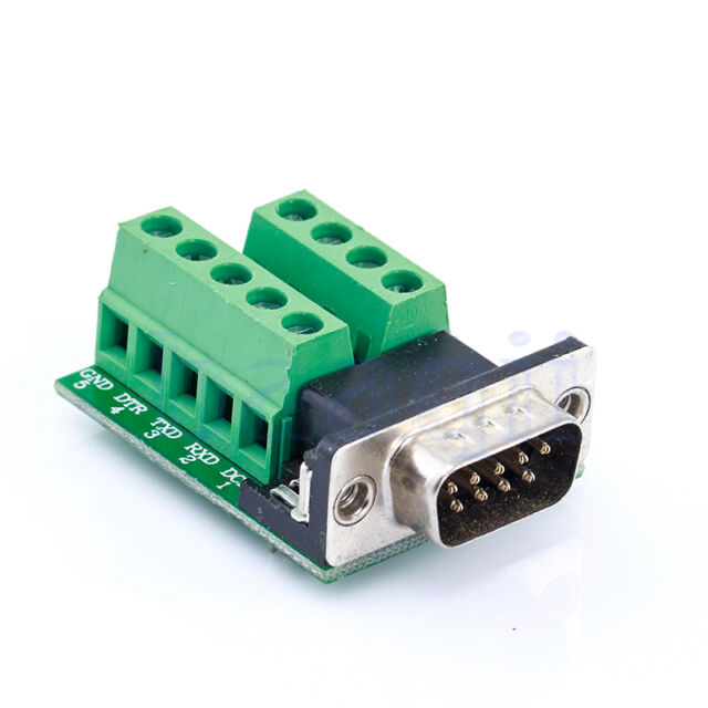 DB9 D-SUB 9 Pin Male Adapter RS232 to Terminal Breakout Board Signal Module DA
