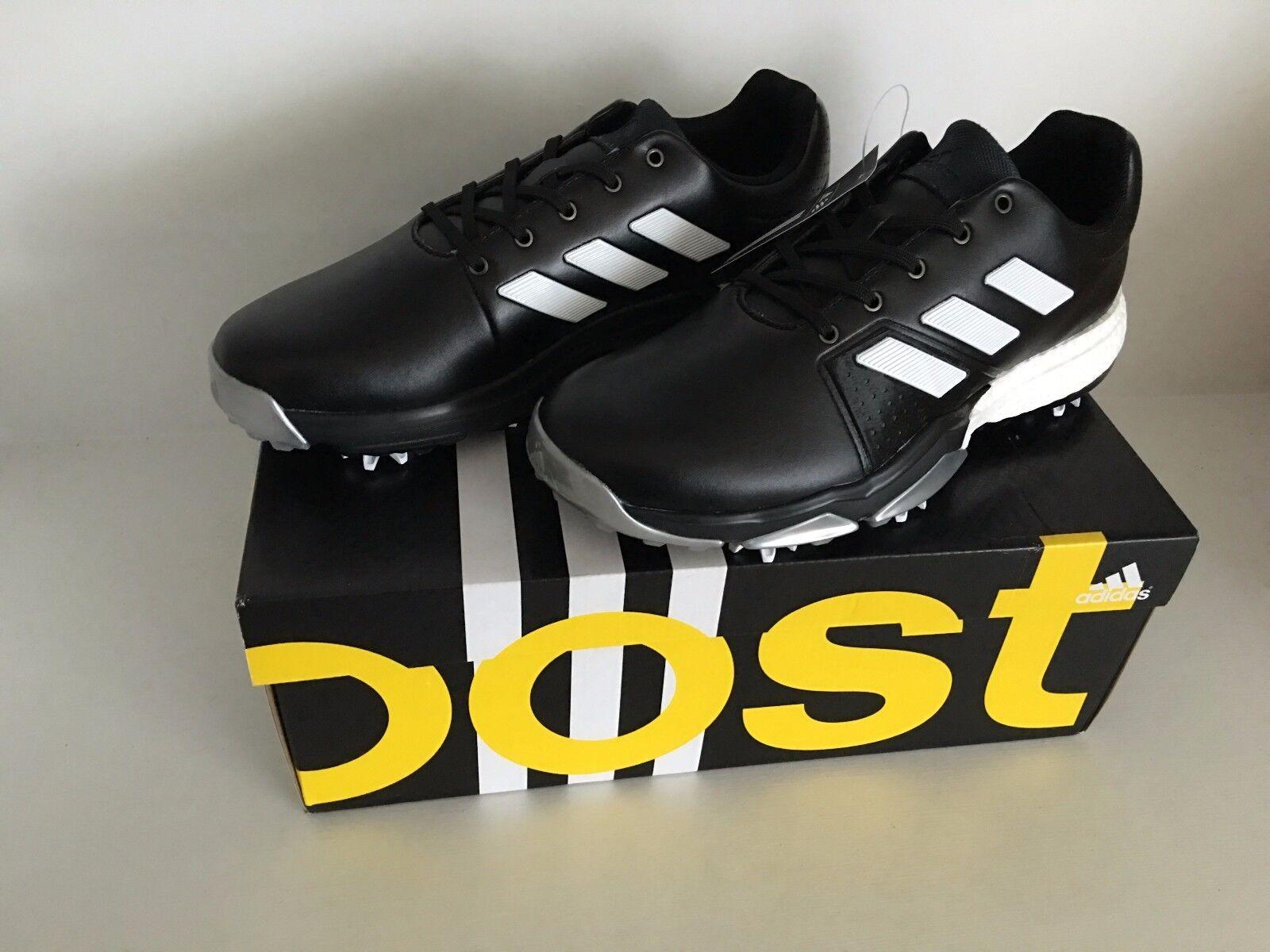 918ed8ef3e81 adidas Adipower Boost 3 Mens Golf Shoes Sz 8m Black white silver ...