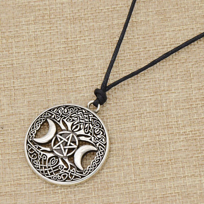 dawapara talisman vintage product moon amulet magic triple image men pendant jewelry women products necklace pentagram tibetan wicca goddess