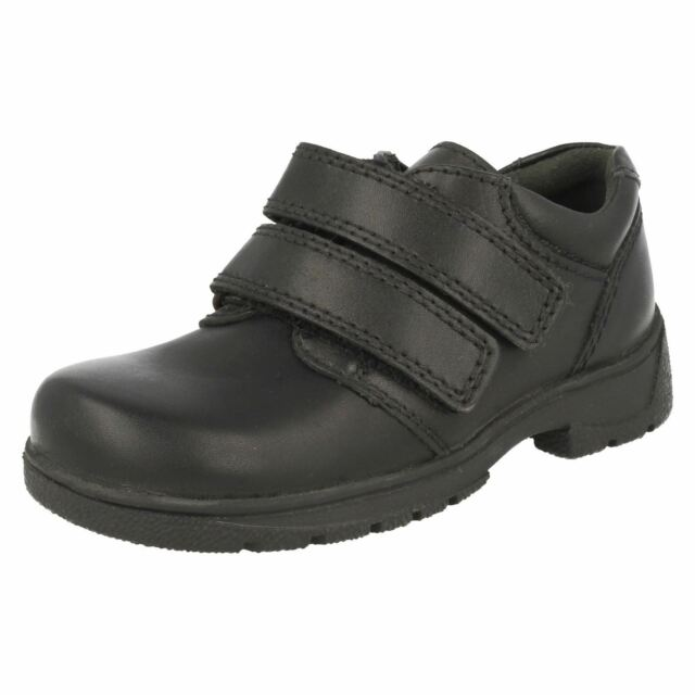Boys Black Two Strap Leather Startrite School Shoes Rotate uHc46KR