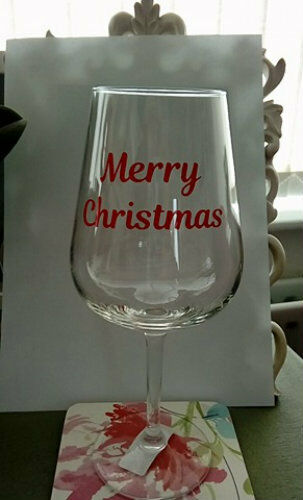 Christmas Vinyl Stickers EBay - Wine glass custom vinyl stickers