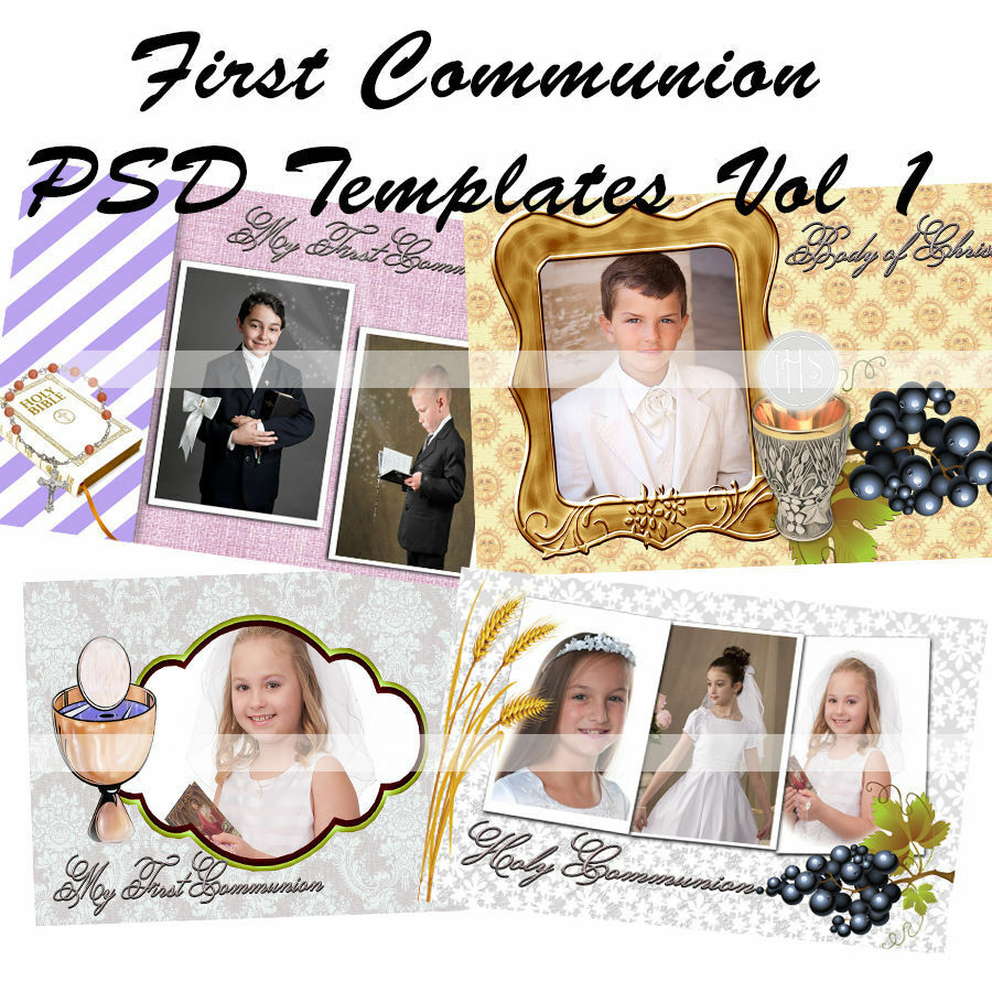 Photoshop Templates for First Communion Frames Vol 1 | eBay