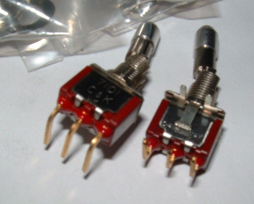 5 X C&k 7101K12ABE Latching Single Pole Double Throw Toggle Switch ...