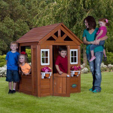 Beau Backyard Discovery Timberlake All Cedar Wood Playhouse   EBay