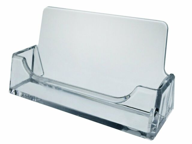 10 clear plastic acrylic desktop business card holder display azm azm 10 new clear desktop business card holder display plastic acrylic on sale reheart Images
