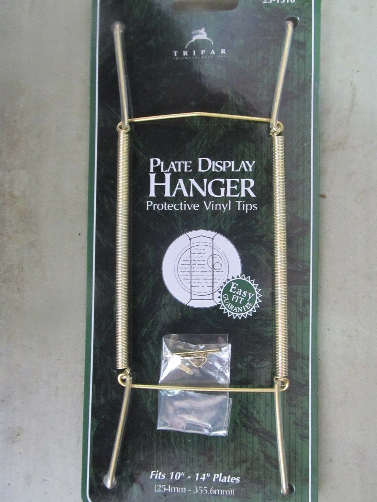 Picture 1 of 1 & Tripar Plate Hanger Clear Plastic Coated Adjusts10 | eBay