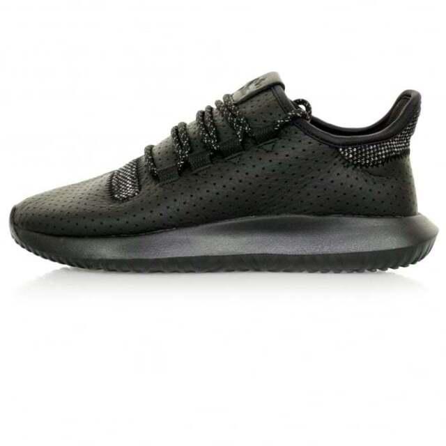 adidas Originals Men's Tubular Shadow Trainers Leather/Knit Upper Core Black