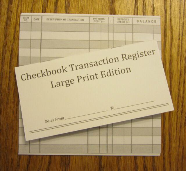 check register book