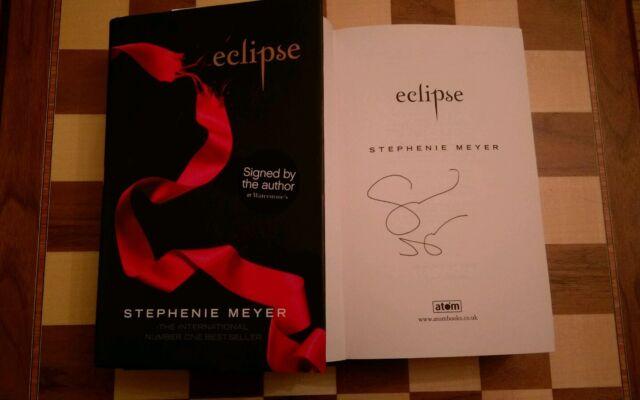 Eclipse SIGNED Stephenie Meyer Hardback Book 2007 1st edition 1st impression