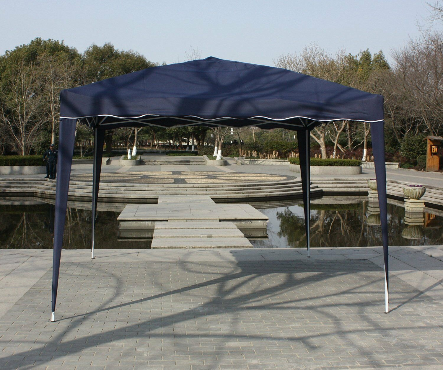 Picture 1 of 4 ... & 10x10 Instant Navy Pop up Outdoor Canopy Party Wedding Portable ...