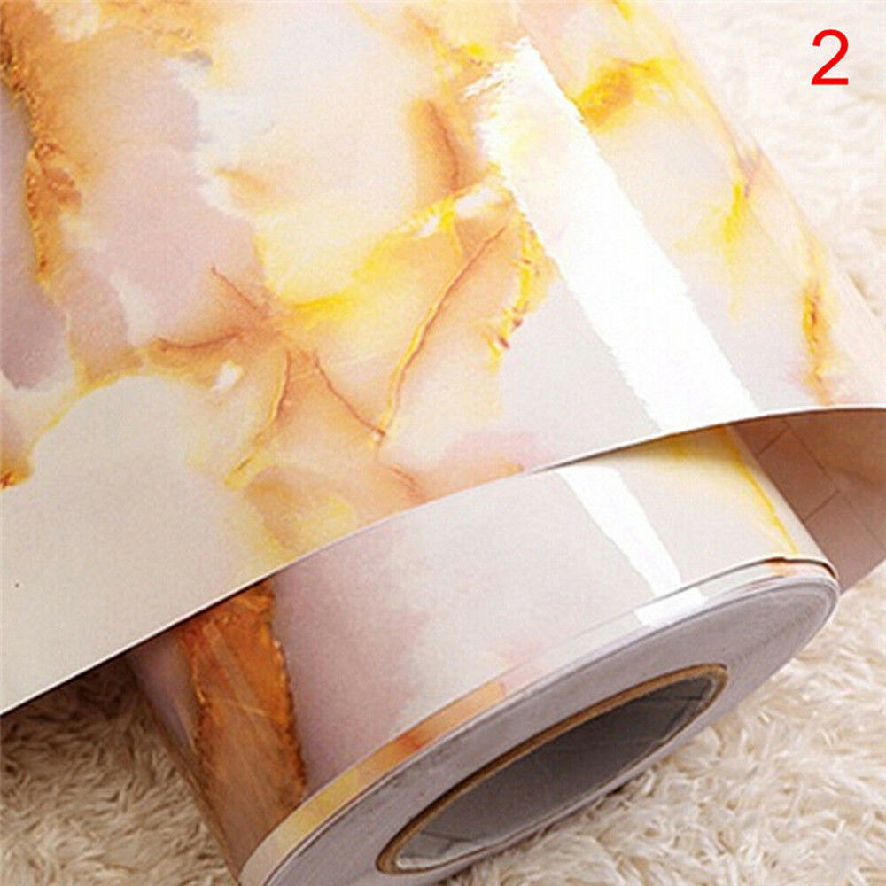 1pc Self Adhesive Marble Effect Contact Paper Film Peel-stick Wall ...