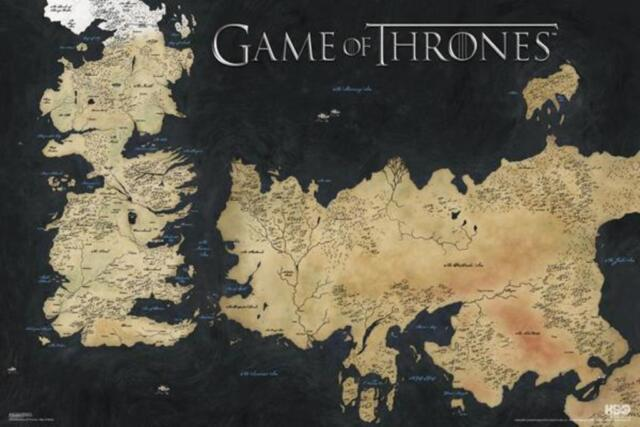 Pyramid america game of thrones world map westeros essos 7 game of thrones world map westeros essos 7 kingdoms hbo tv show poster 36x24 sciox Image collections