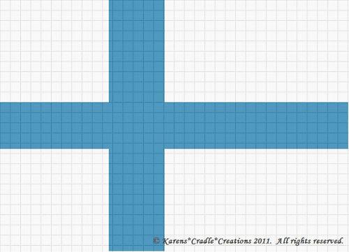 Crochet Patterns Flag Finland Afghan Pattern Ebay
