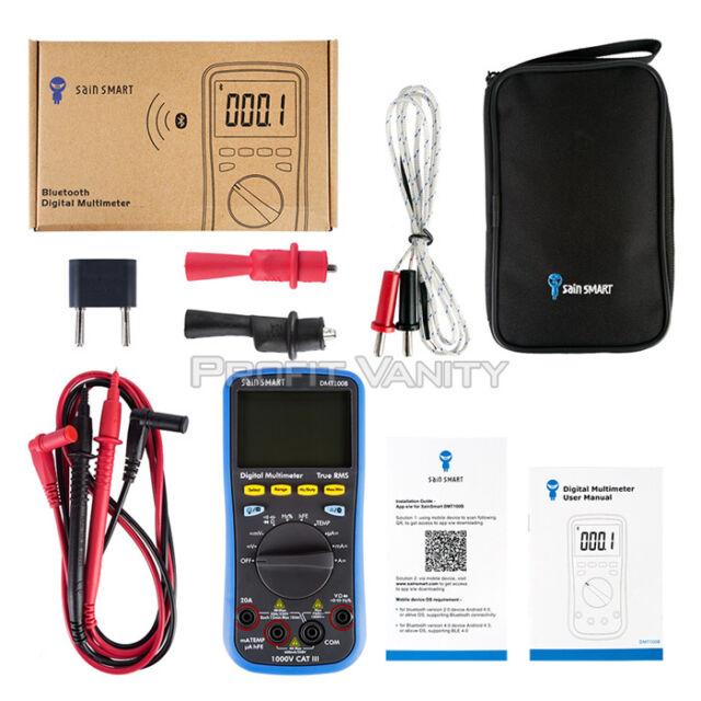 SainSmart DMT100B 3(5/6) T-RMS Multimeter Bluetooth Android Datalogger + DMM