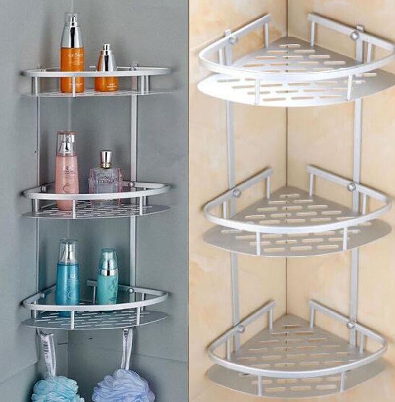 3 Tier Bathroom Toilet Shower Caddy Shelf Corner Rack Storage Holder ...