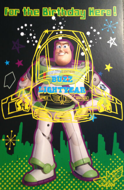Toy Story Buzz Lightyear for The Birthday Hero Birthday Card – Buzz Lightyear Birthday Card