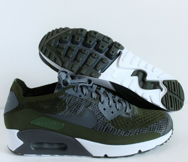 Nike Air Max 90 Ultra 2.0 Flynit Men's Size 11 Running Shoes Black White 875943