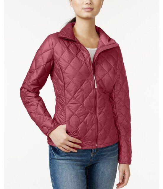 32 Degrees Heat Women Packable Down Quilted Jacket Coat Purple Sz Xs