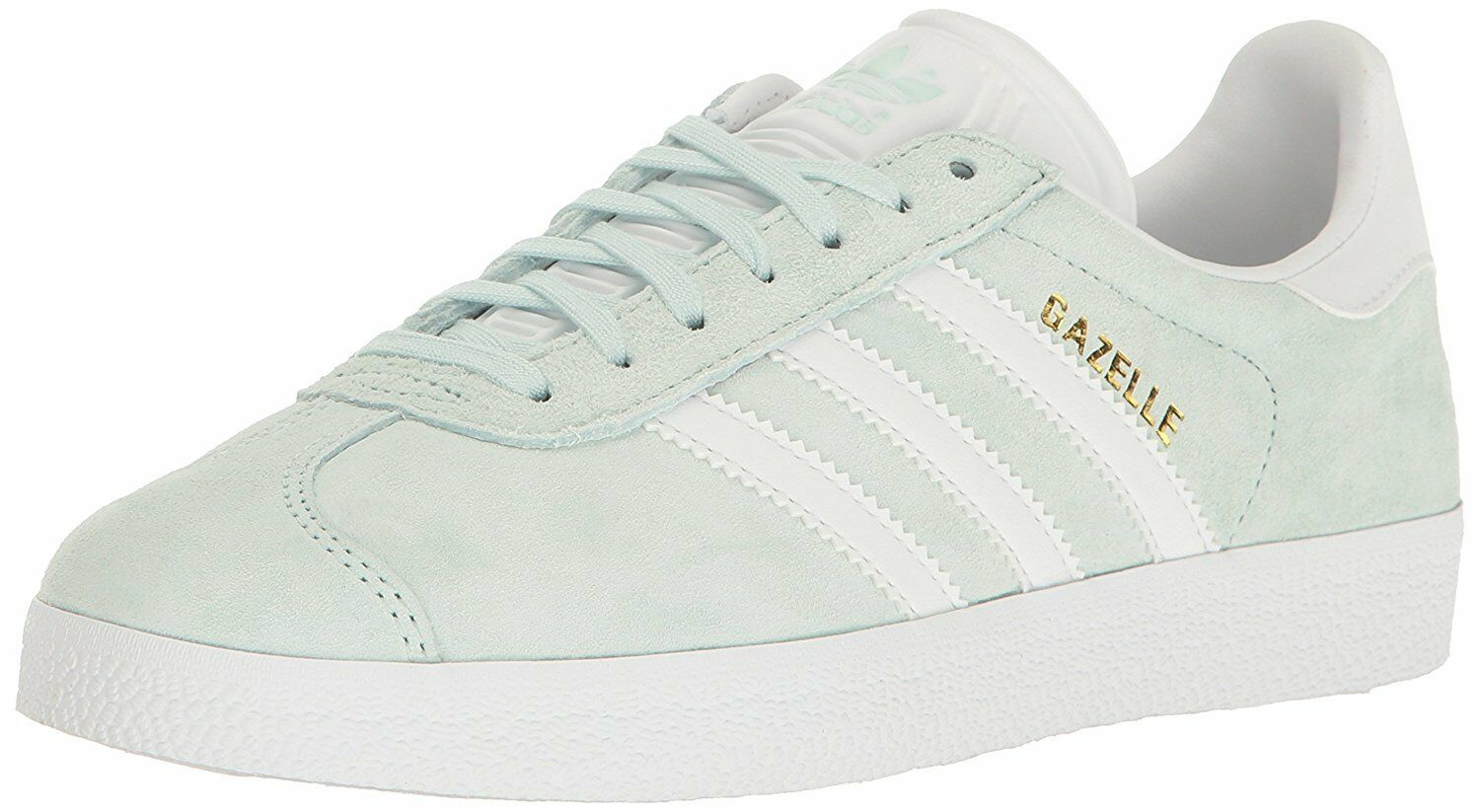 fc74a66dc ... Adidas Gazelle Womens BA9599 Ice Mint White Gold Pigskin Leather Shoes  Size 7
