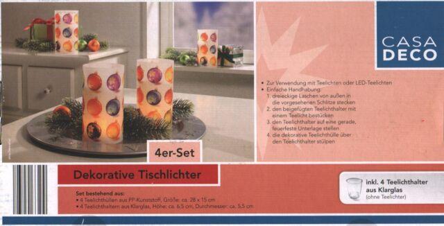 Dekorative Tischlichter Teelichter 4er Set Motiv 4