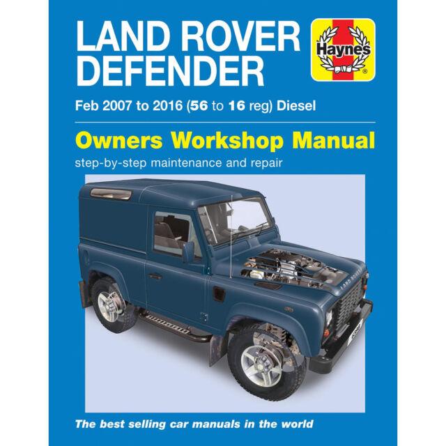 land rover defender 90 110 130 2007 2016 haynes workshop manual ebay rh ebay co uk defender 90 puma workshop manual defender 90 110 workshop manual