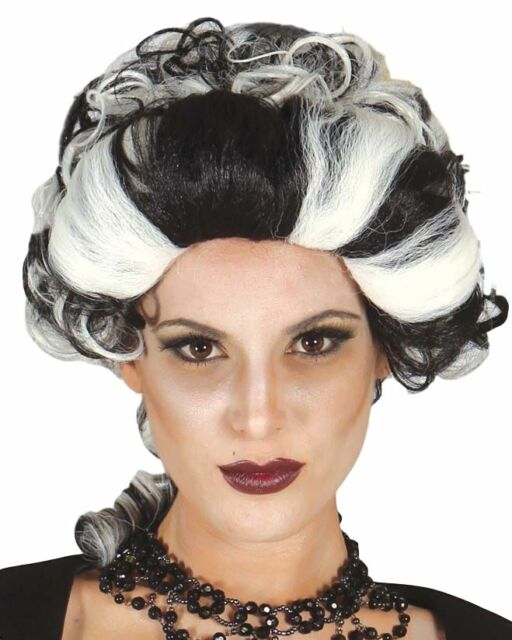 Ladies Black White Baroque V&ire Halloween Fancy Dress Costume Outfit Wig  sc 1 st  eBay & Ladies Black White Baroque Vampire Halloween Fancy Dress Costume ...