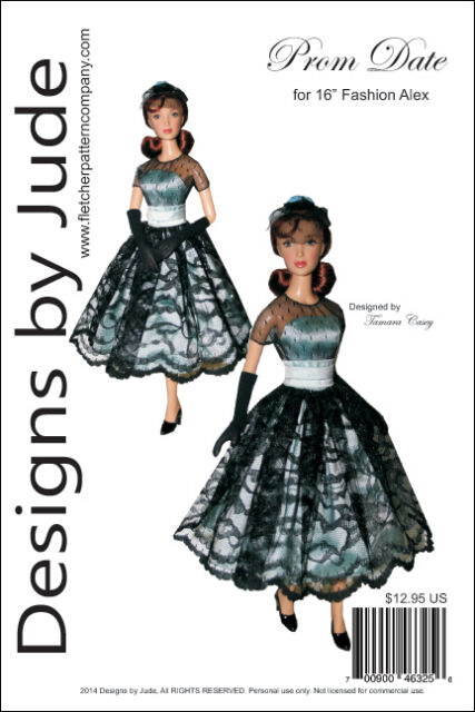 Prom Date Doll Clothes Sewing Pattern 16\