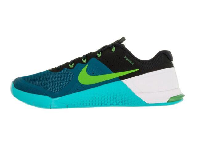 nib mens nike metcon 2 teal green abyss athletic running crossfit shoes sz 10