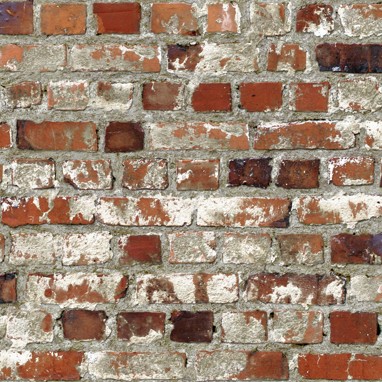 Multi Rustic Red Loft Brick Retro Muriva Wallpaper