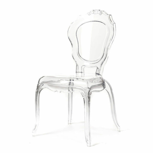 french style ghost dining chair with arms set of 4 | ebay